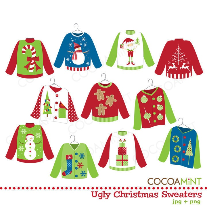 Ugly Sweater Clip Art Images  - Ugly Christmas Sweater Clipart