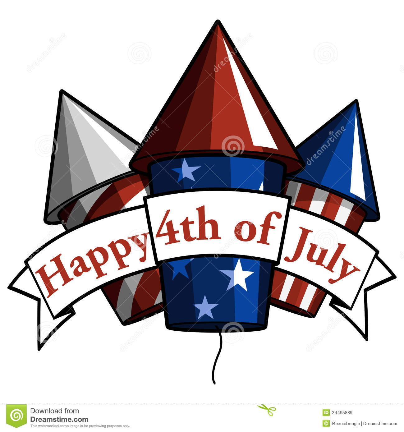 uly 4th clip art. Happy 4th Of July