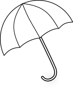 umbrella clipart black% .