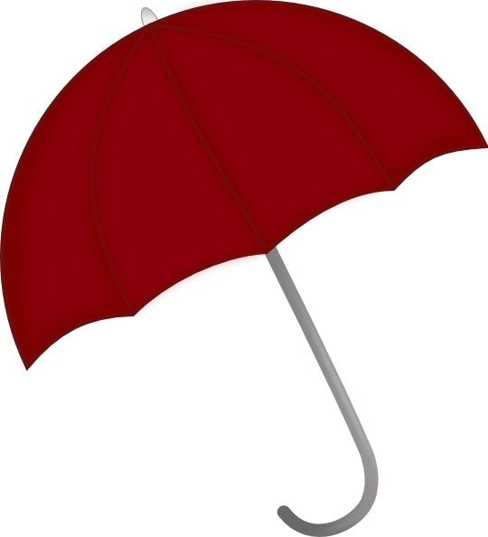 Red Umbrella clip art-Red Umbrella clip art-5