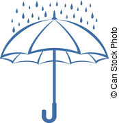 Umbrella and rain, pictogram - Vector, s-Umbrella and rain, pictogram - Vector, symbolical pictogram:.-11