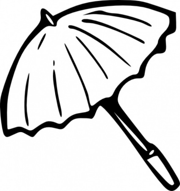 Umbrella Outline clip art Vector | Free Download