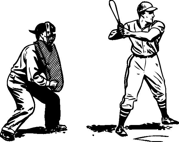 Umpire And Batter Clip Art At Vector Cli-Umpire And Batter Clip Art At Vector Clip Art Online-12