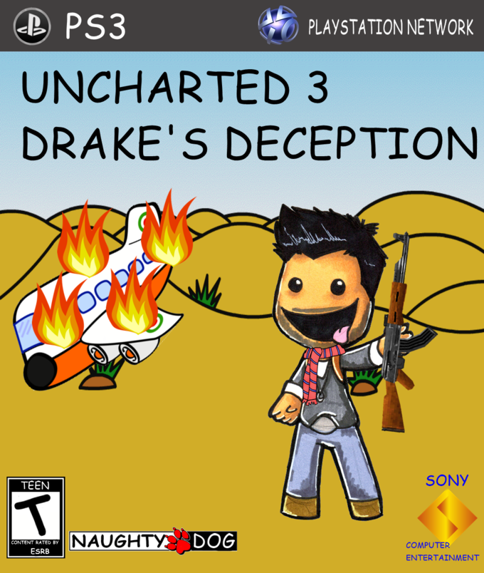 PLAYSTATION NETWORK UNCHARTED 3 DRAKEu00-PLAYSTATION NETWORK UNCHARTED 3 DRAKEu0027S DECEPTION SONY TEEN NAUGH HDOG  CONTENT RATED BY COMPUTER ENTERTAINMENT ESRB-11