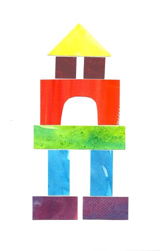 Under Construction: Watercolor building block art--a tutorial