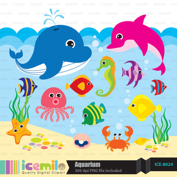 Under The Sea Digital Clipart By Icemiloclipart On Etsy