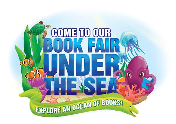 Under The Sea Fair Clip Art - Book Fair Clip Art