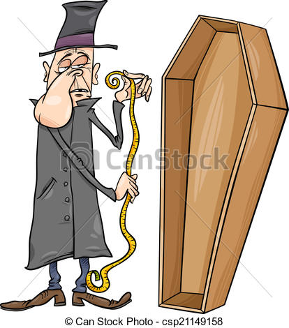 Undertaker With Coffin Cartoo - Undertaker Clipart