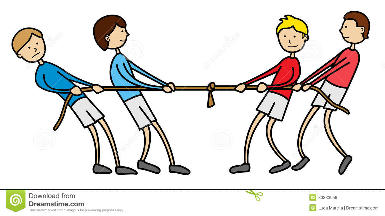 Unfair Tug Of War Clipart