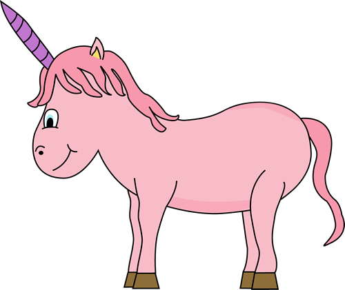 Unicorn Clip Art Image - pink and purple unicorn.