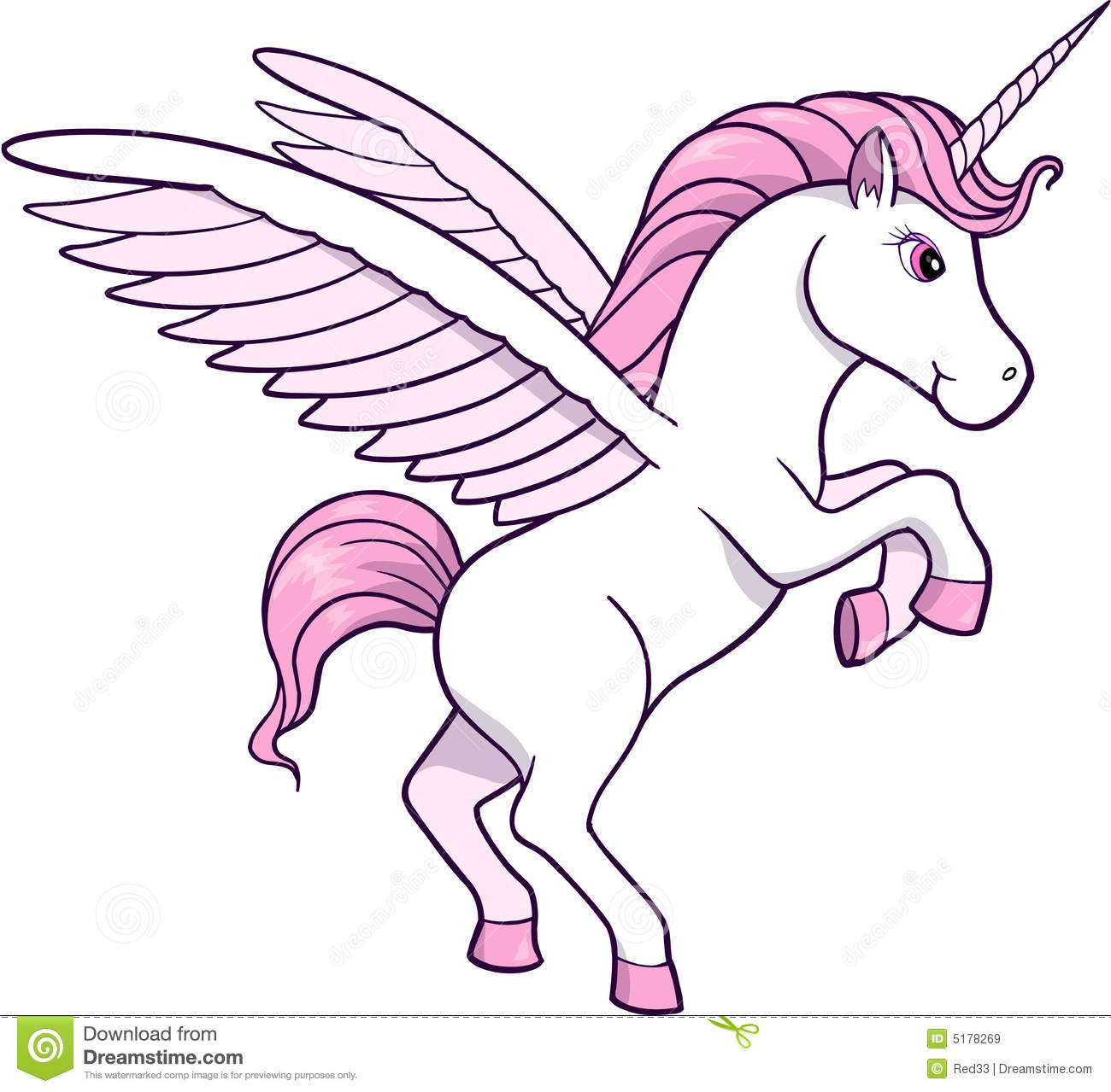 Unicorn Vector Illustration Royalty Free Stock Images Image 5178269