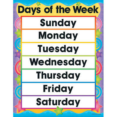 Unit 08 A Week At Camp Fun Days Of The Week Grammar