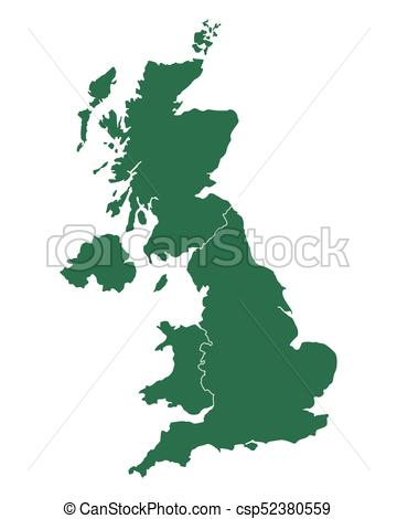 Map of United Kingdom - csp52380559