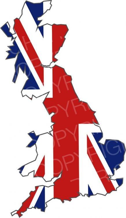 United Kingdom Flag Island Prawny Map Clip Art
