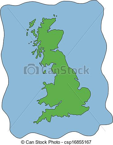 Vector Map Of Uk United Kingdom