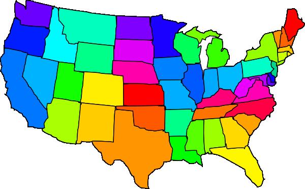 United States Clip Art Map .-United States Clip Art Map .-3