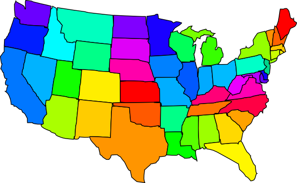 United States Clip Art Map .