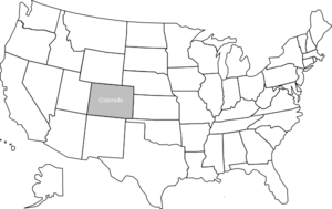 United States Map With Colorado Highlighted Clip Art