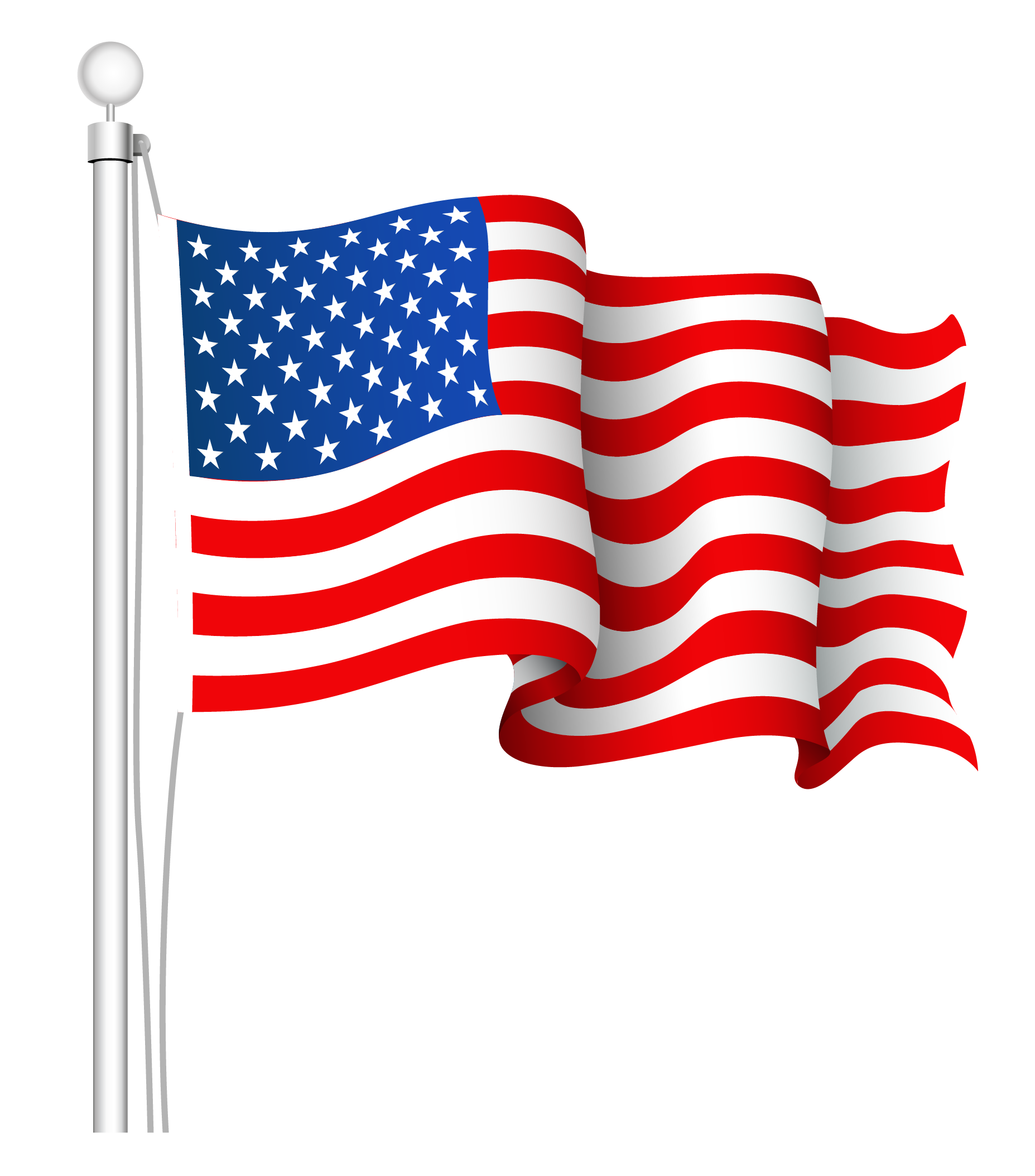 Printable American Flag Clipa