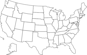 United States Map With States - United States Clip Art