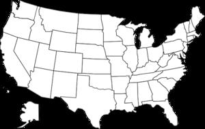 United States Clip Art Map .