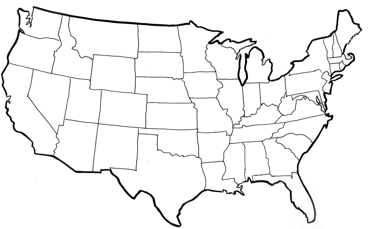United States Vector Outline Clipart Best