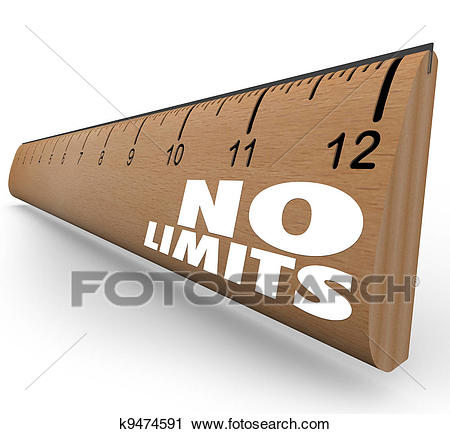 Clipart - No Limits Words on Ruler Unlimited Potential. Fotosearch - Search Clip  Art,