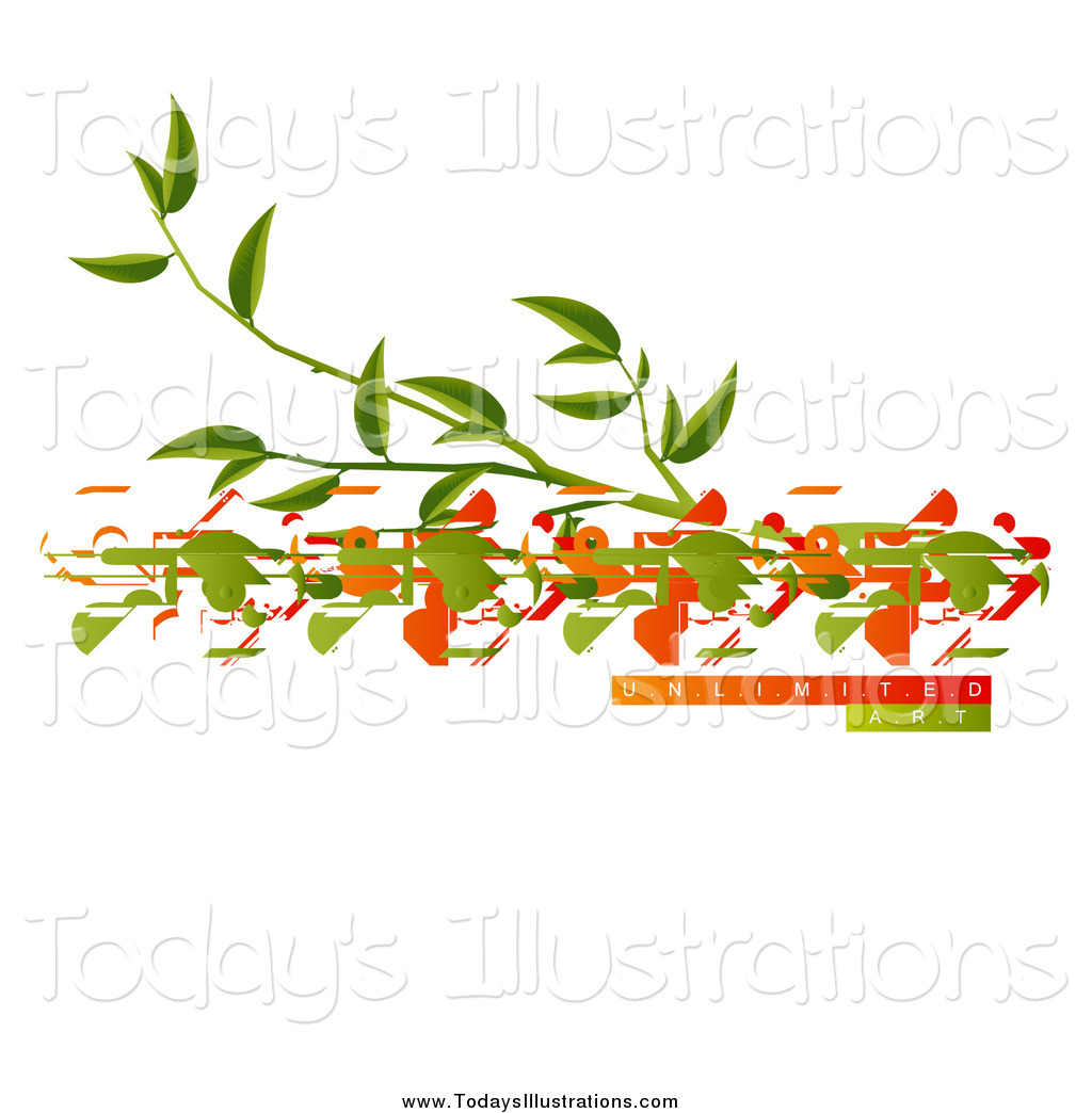 Clipart of a Tree Branch and Birds with Unlimited Art Sample Text