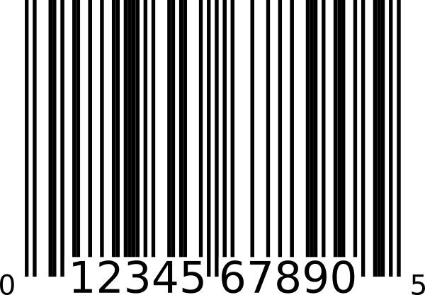 Upc-a Bar Code clip art