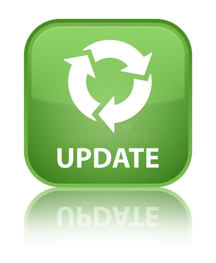 Download Update (refresh Icon) Special Soft Green Square Button Stock  Illustration - Illustration of