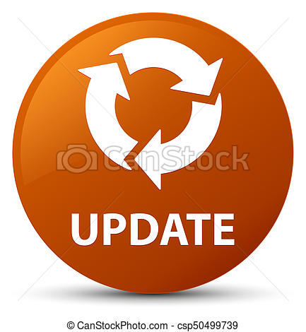 Update (refresh icon) brown round button - csp50499739