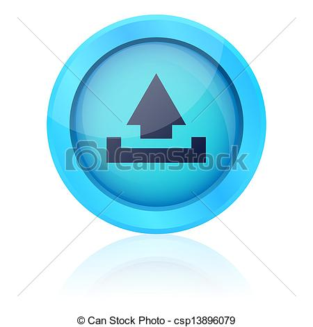 Blue Vector Upload Button-Blue Vector Upload Button-10