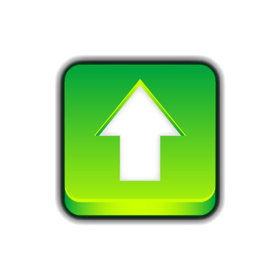 Green Arrow Upload Button In Square