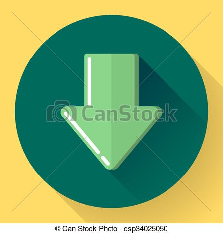 Upload Button. Load Symbol. Flat Design -Upload Button. Load Symbol. Flat Design Style. Vector-12
