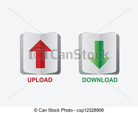 upload download button - csp12328908