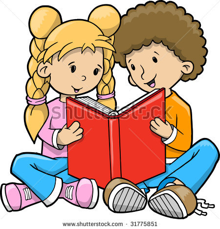 uproar clipart - Kids Reading Clip Art
