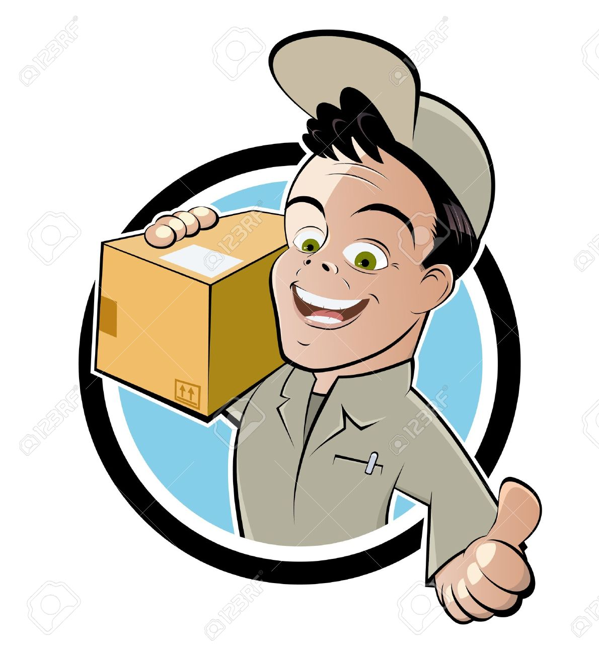 Ups Delivery Man Clipart