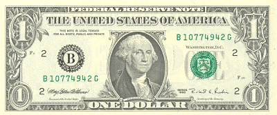 Us 1dollar Front Http Www Wpc - Clip Art Dollar Bill