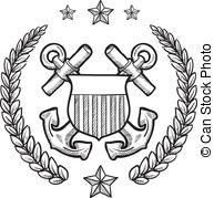 US Coast Guard insignia - Doodle style m-US Coast Guard insignia - Doodle style military rank.-18