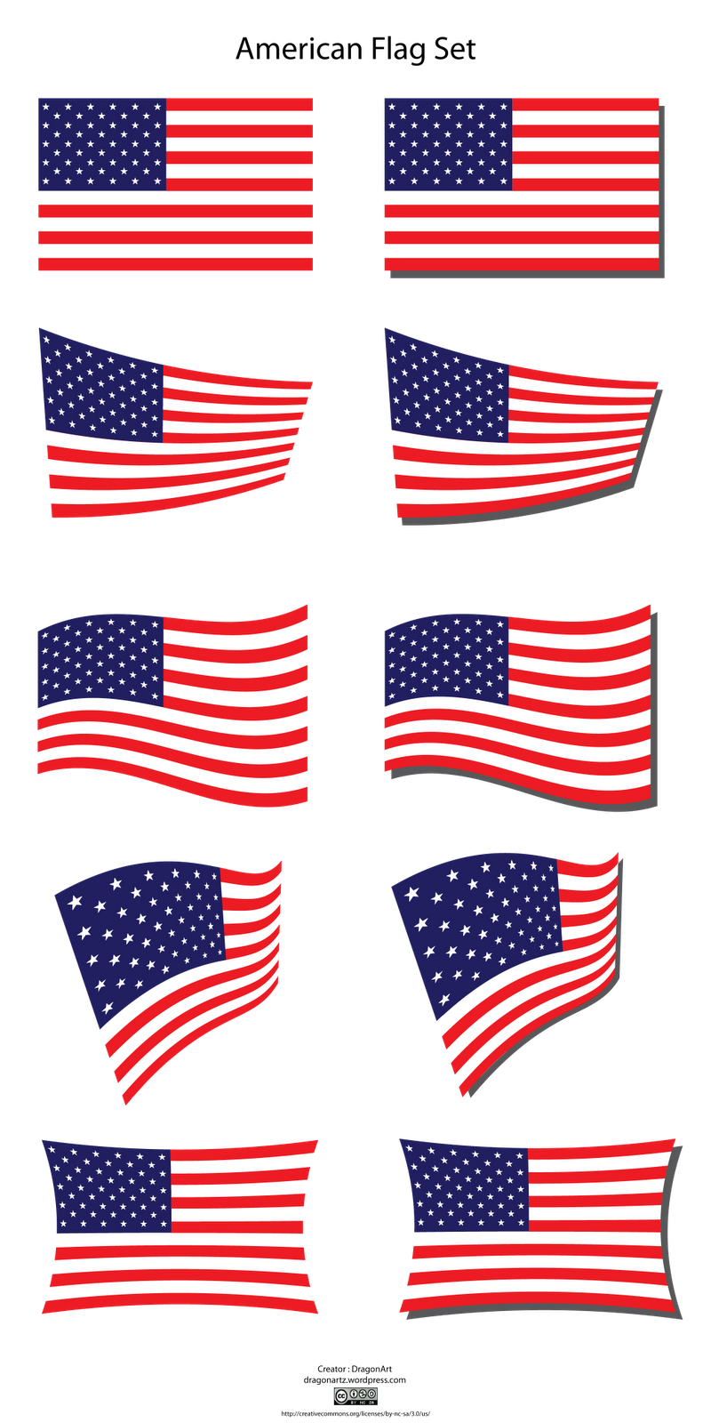 Us flag american flag clipart