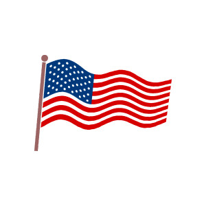 Us flag american flag us vector clipart kid