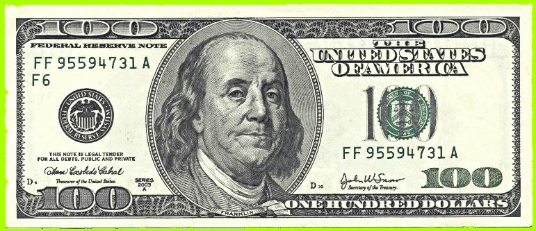 Us Hundred Dollar Bill Public Domain Cli-Us Hundred Dollar Bill Public Domain Clip Art Image-2