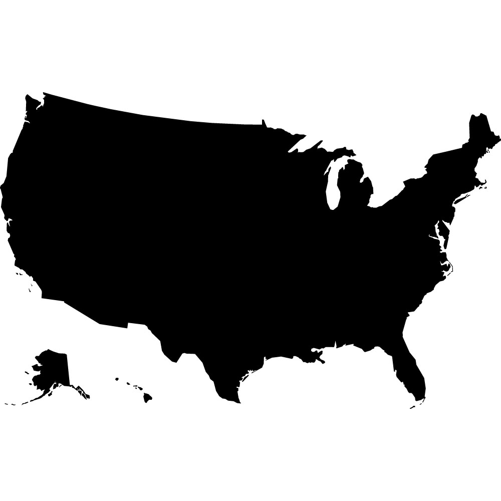 Us Map With States Clip Art A - Usa Clip Art