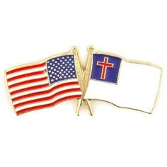 USA Christian Flag Pin . $3.95