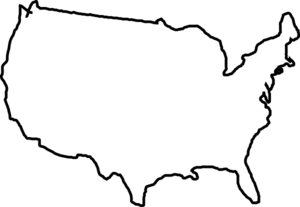 Usa Map Black And White Clip .