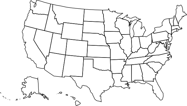 Usa Political Map Clip Art-Usa Political Map Clip Art-1