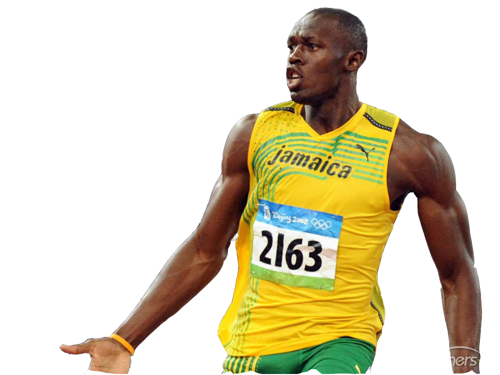 Download PNG image - Usain Bolt Clipart 500