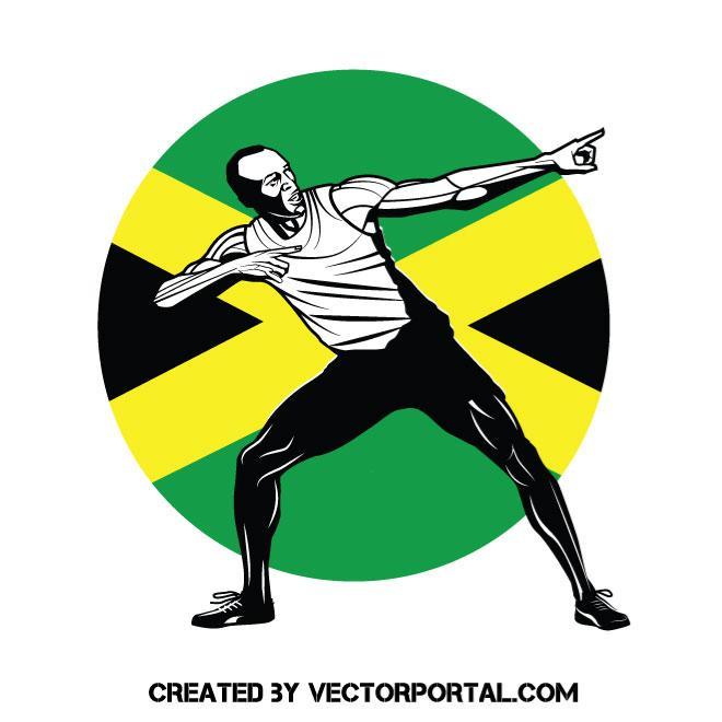 Sprinter Usain Bolt
