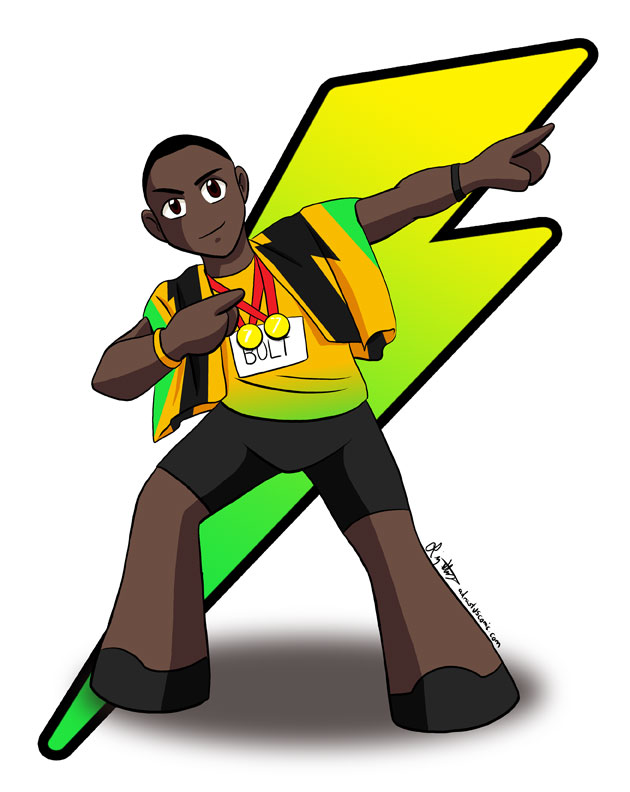 Usain Bolt Chibi Comission by lizstaley ClipartLook.com