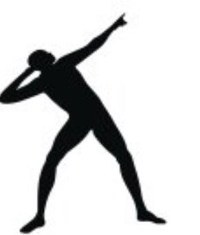 Usain Bolt owns the trademark to his pose silhouette